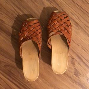 Swedish Hasbeens wooden mules